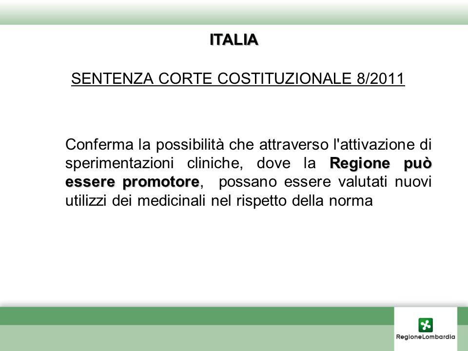 SENTENZA CORTE COSTITUZIONALE 8/2011