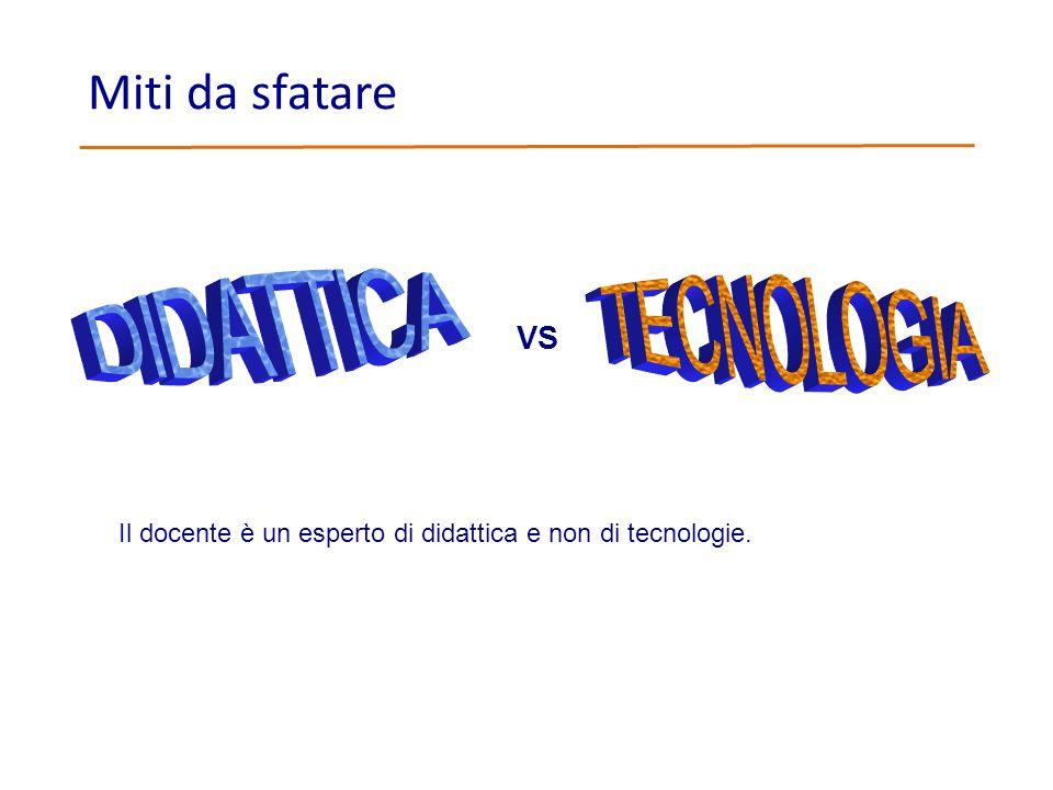 Miti da sfatare DIDATTICA TECNOLOGIA VS