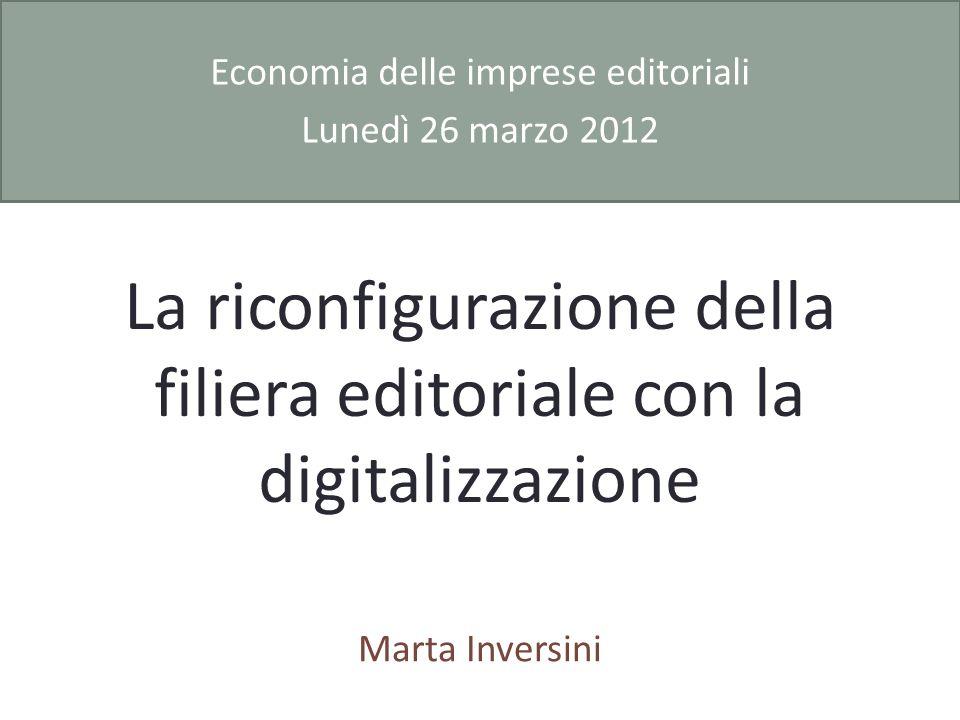 La riconfigurazione della filiera editoriale con la digitalizzazione