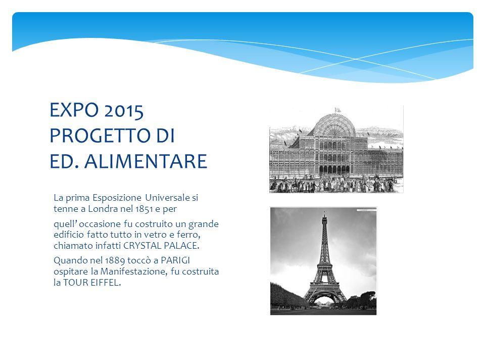 EXPO 2015 PROGETTO DI ED. ALIMENTARE
