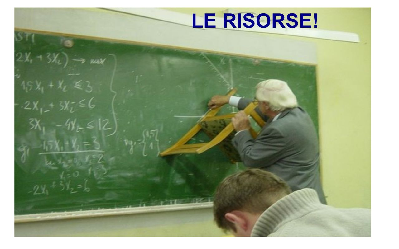 LE RISORSE!