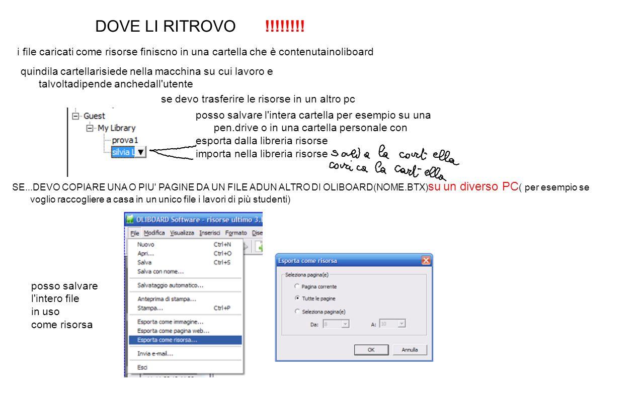 DOVE LI RITROVO !!!!!!!! i file caricati come risorse finiscno in una cartella che è contenutainoliboard.