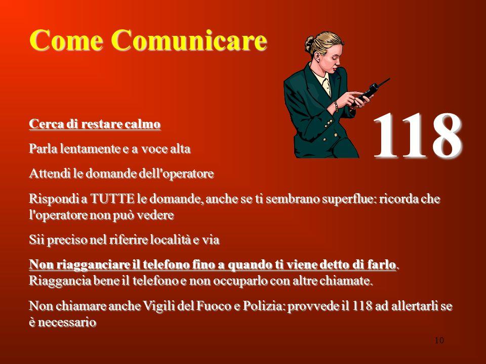 118 Come Comunicare Cerca di restare calmo