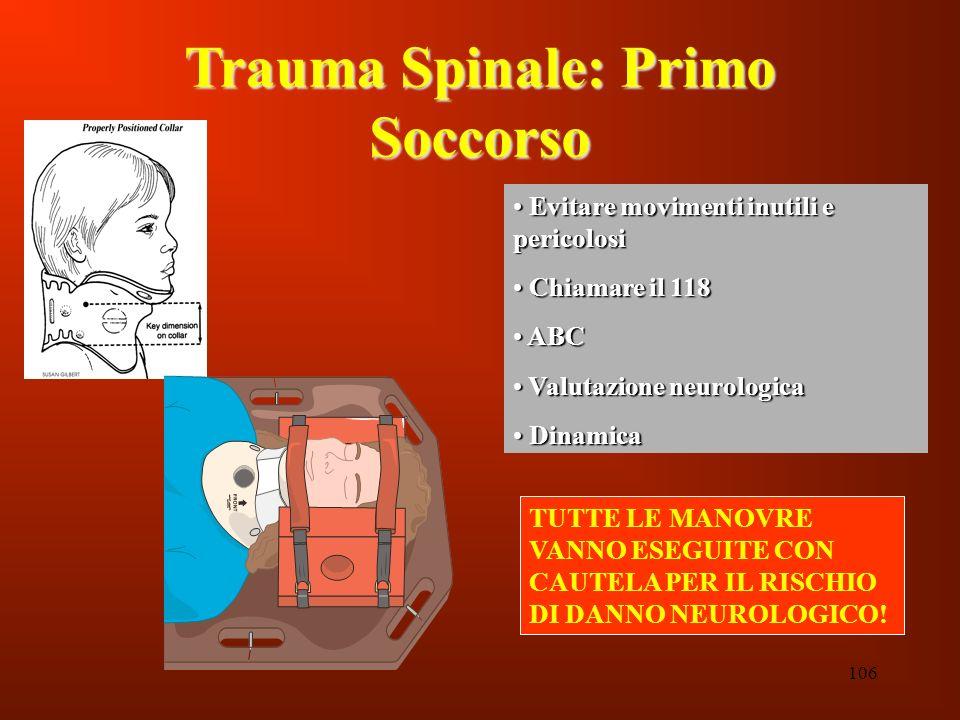 Trauma Spinale: Primo Soccorso