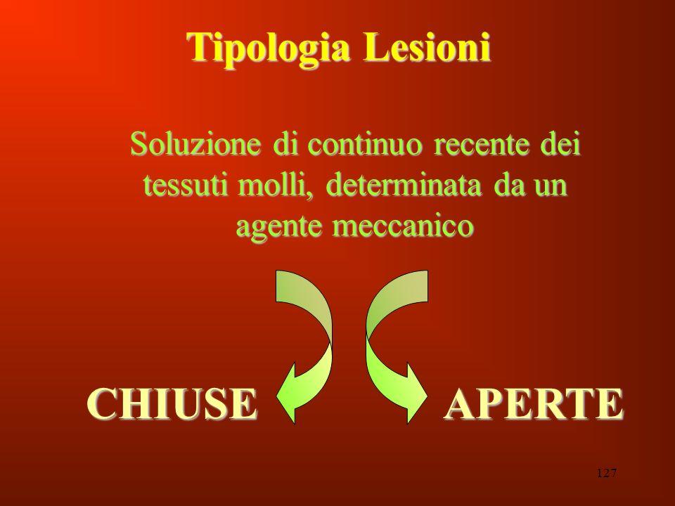 CHIUSE APERTE Tipologia Lesioni