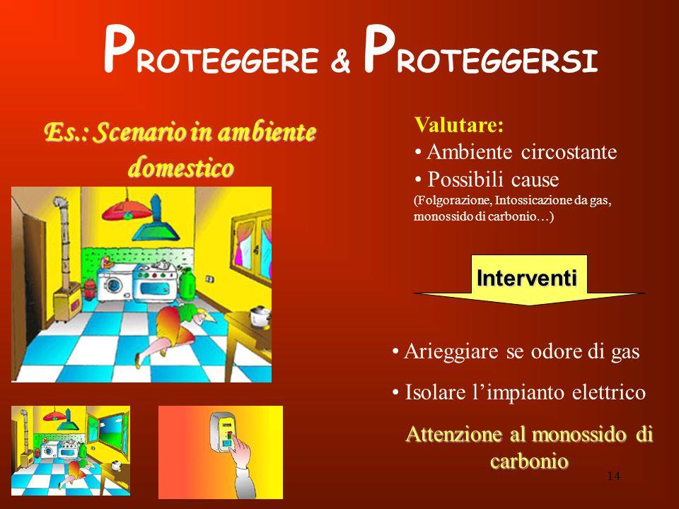 PROTEGGERE & PROTEGGERSI Es.: Scenario in ambiente domestico