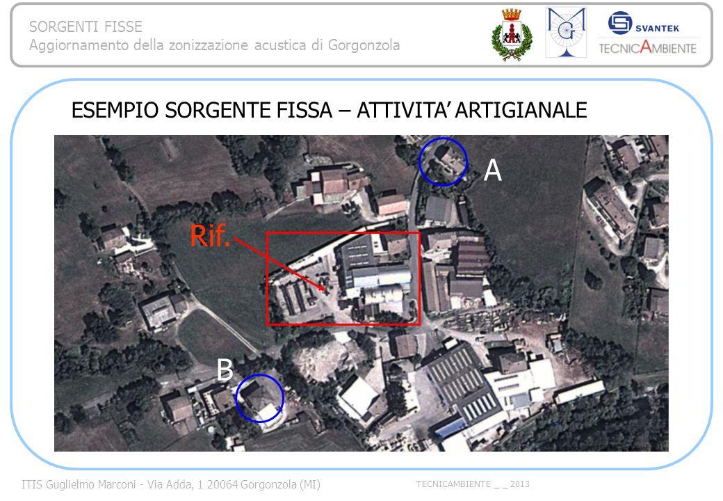 A Rif. B ESEMPIO SORGENTE FISSA – ATTIVITA' ARTIGIANALE