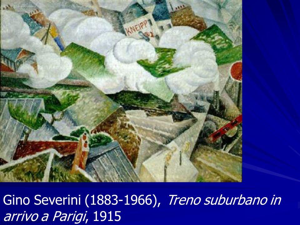 Gino Severini (1883-1966), Treno suburbano in arrivo a Parigi, 1915