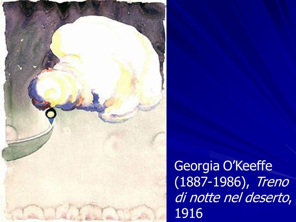 Georgia O'Keeffe (1887-1986), Treno di notte nel deserto, 1916