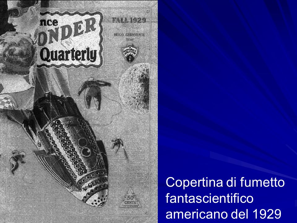 Copertina di fumetto fantascientifico americano del 1929