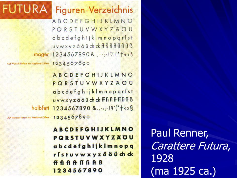 Paul Renner, Carattere Futura, 1928 (ma 1925 ca.)