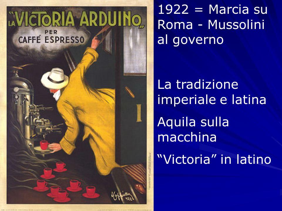 1922 = Marcia su Roma - Mussolini al governo