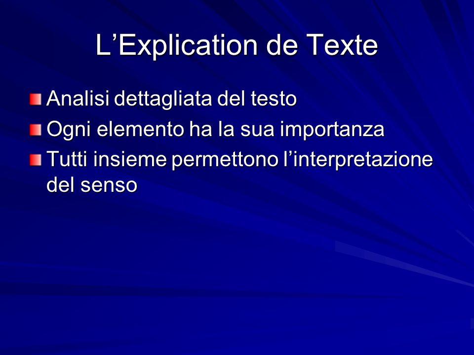 L'Explication de Texte