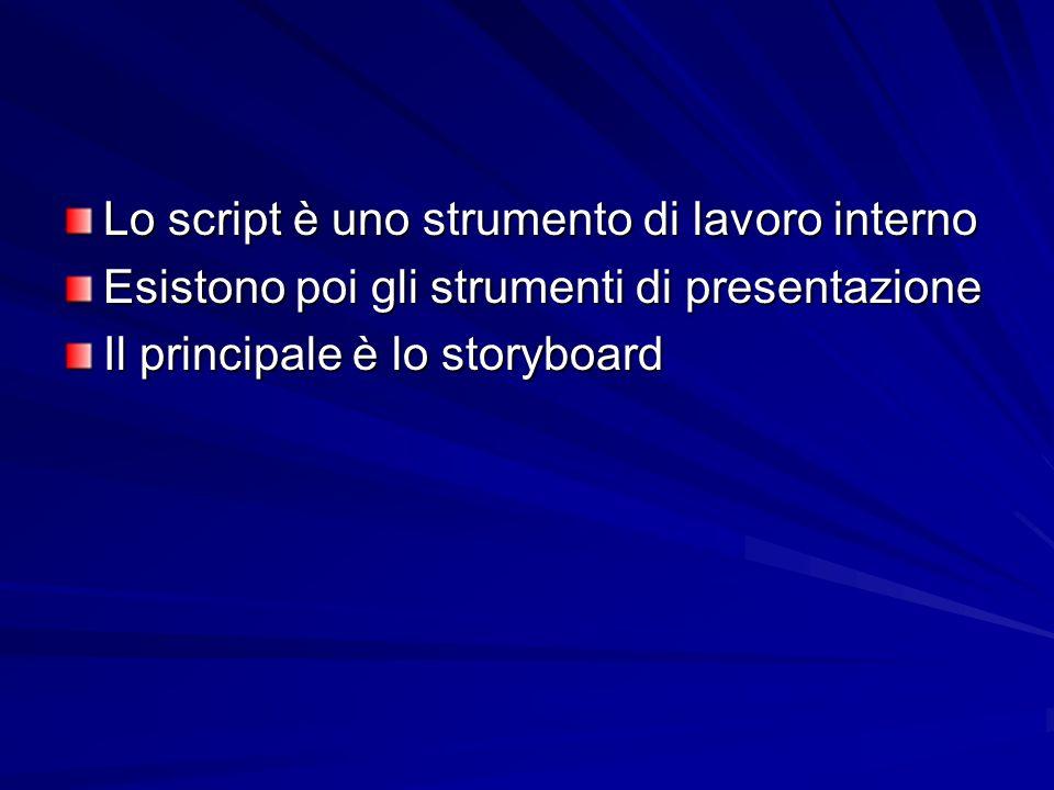 Lo script è uno strumento di lavoro interno