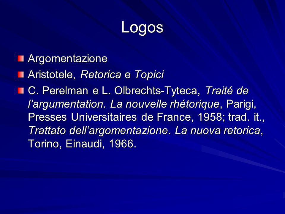 Logos Argomentazione Aristotele, Retorica e Topici