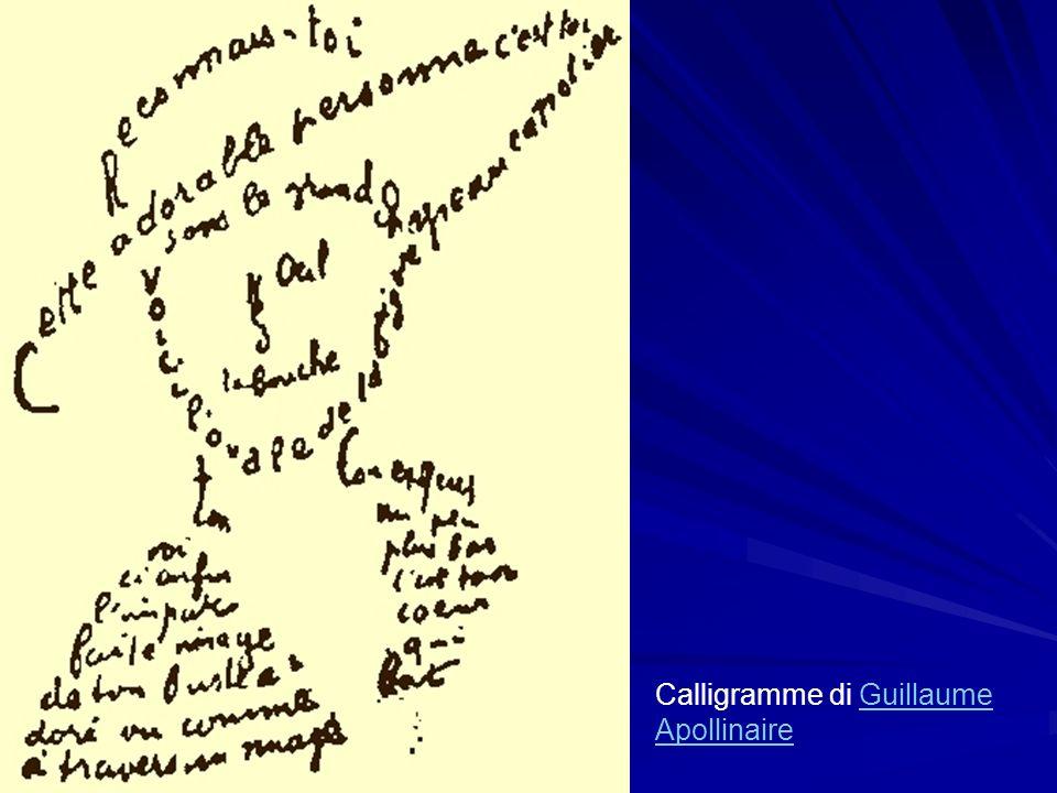 Calligramme di Guillaume Apollinaire