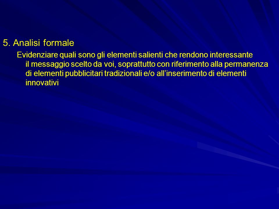 5. Analisi formale