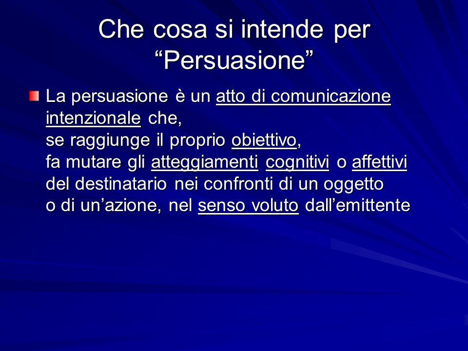 Che cosa si intende per Persuasione