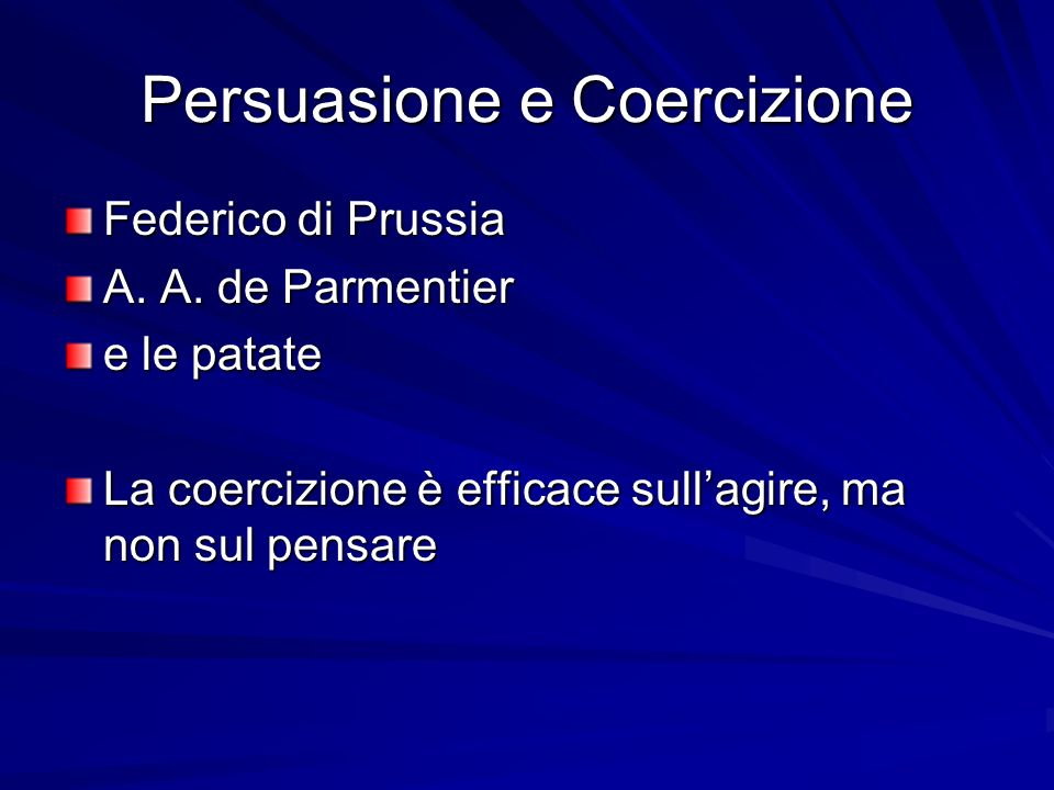 Persuasione e Coercizione