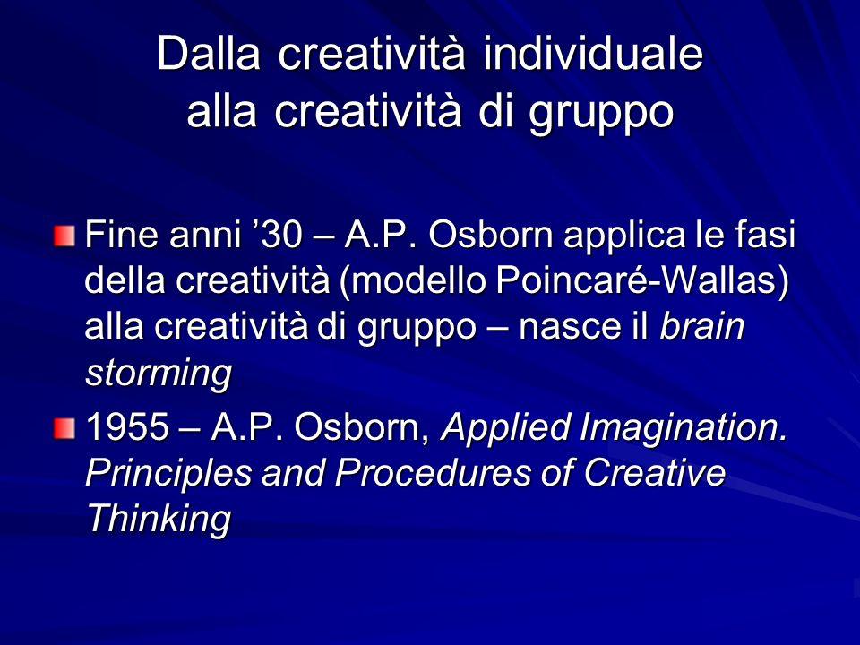 Dalla creatività individuale alla creatività di gruppo