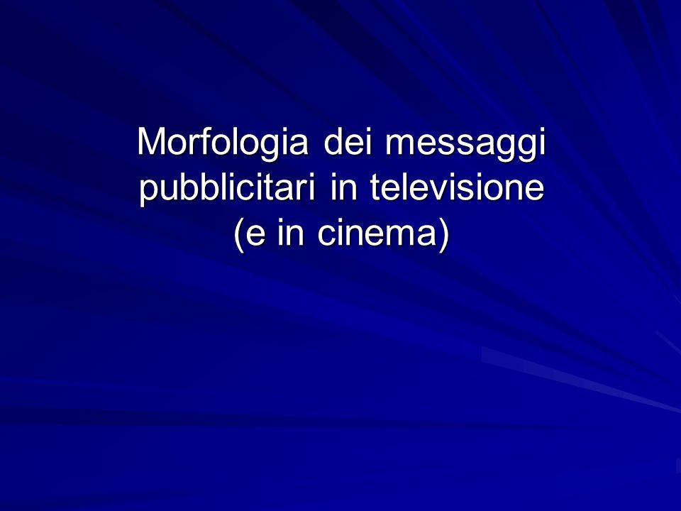 Morfologia dei messaggi pubblicitari in televisione (e in cinema)