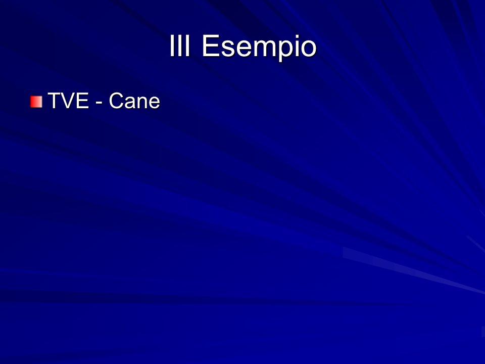 III Esempio TVE - Cane