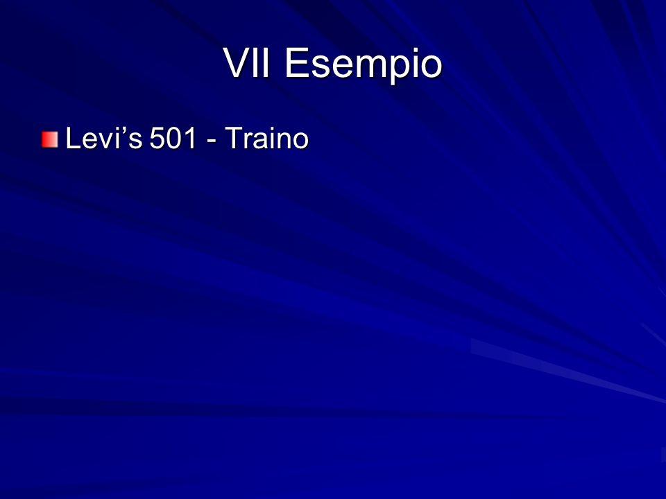 VII Esempio Levi's 501 - Traino