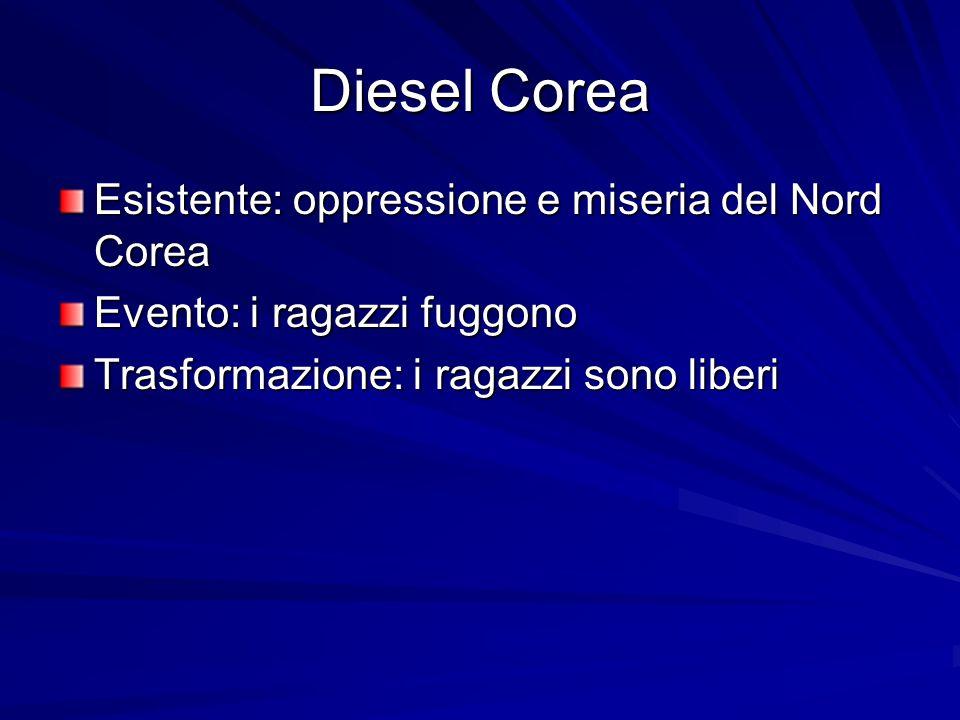 Diesel Corea Esistente: oppressione e miseria del Nord Corea