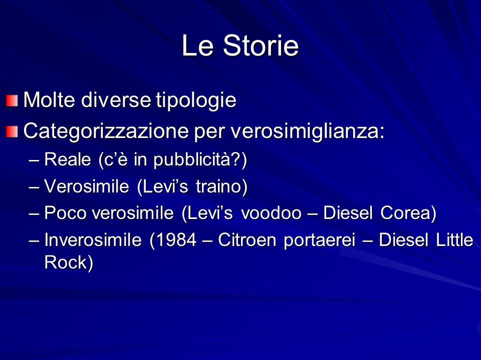 Le Storie Molte diverse tipologie