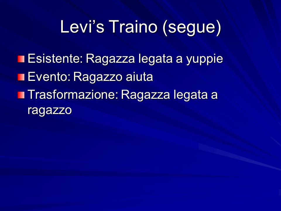 Levi's Traino (segue) Esistente: Ragazza legata a yuppie