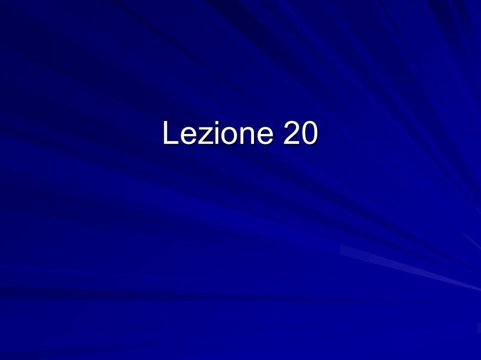 Lezione 20