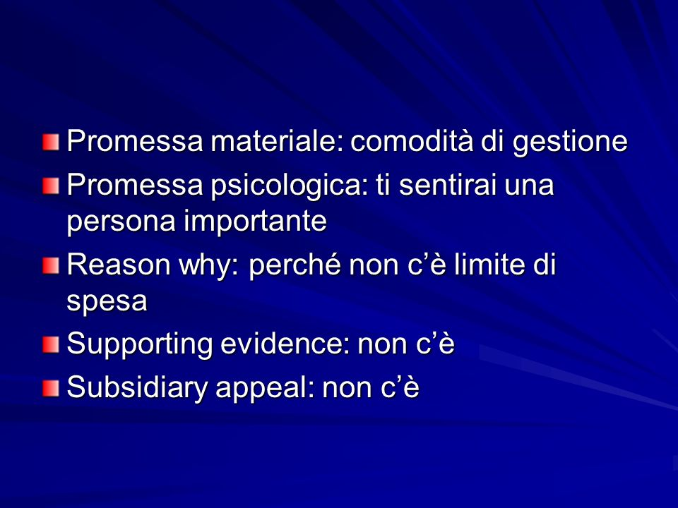 Promessa materiale: comodità di gestione