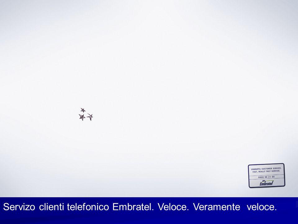 Servizo clienti telefonico Embratel. Veloce. Veramente veloce.