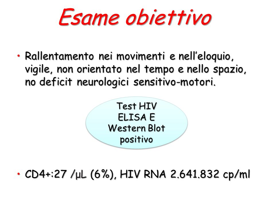 Test HIV ELISA E Western Blot positivo