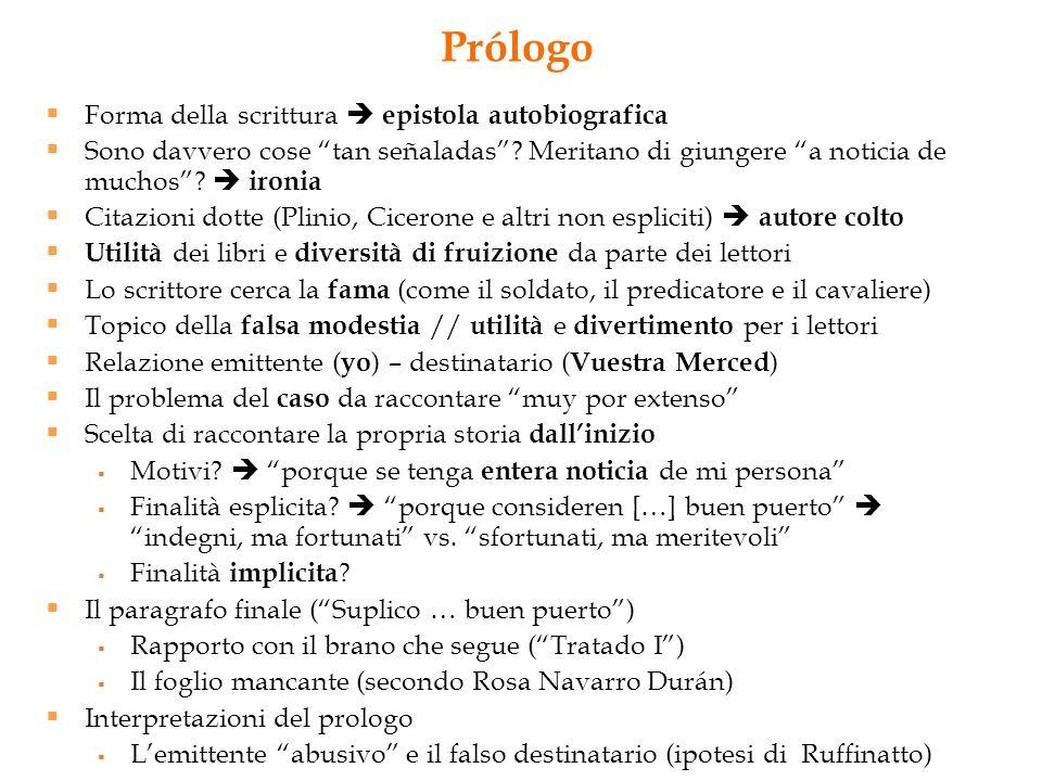 Prólogo Forma della scrittura  epistola autobiografica