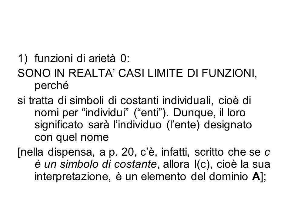 funzioni di arietà 0: SONO IN REALTA' CASI LIMITE DI FUNZIONI, perché.