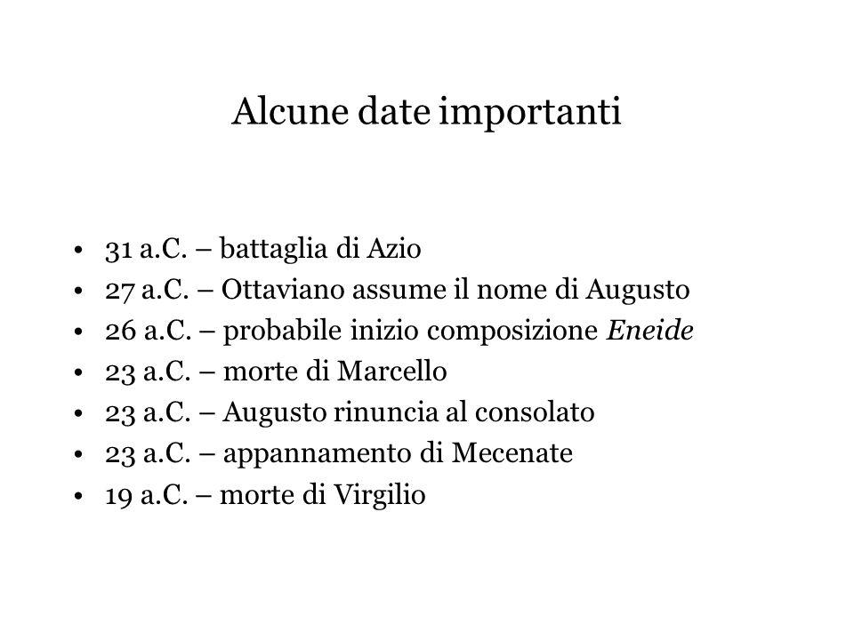 Alcune date importanti