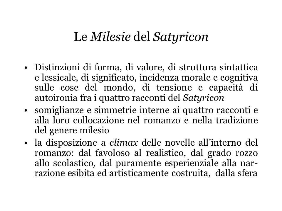 Le Milesie del Satyricon