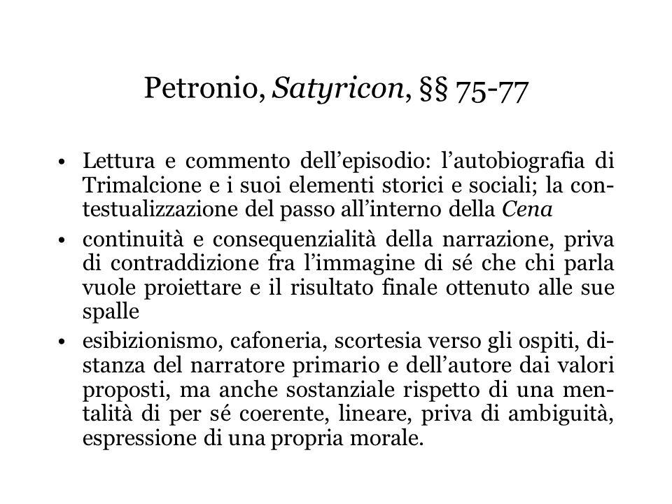 Petronio, Satyricon, §§ 75-77