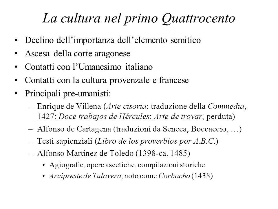 La cultura nel primo Quattrocento
