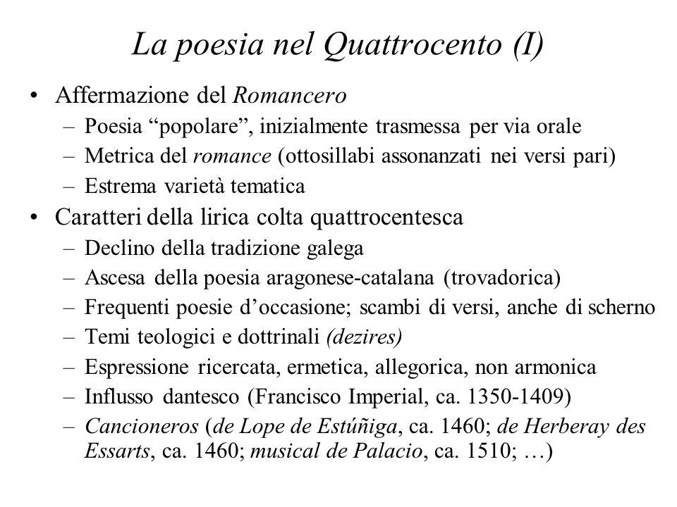 La poesia nel Quattrocento (I)