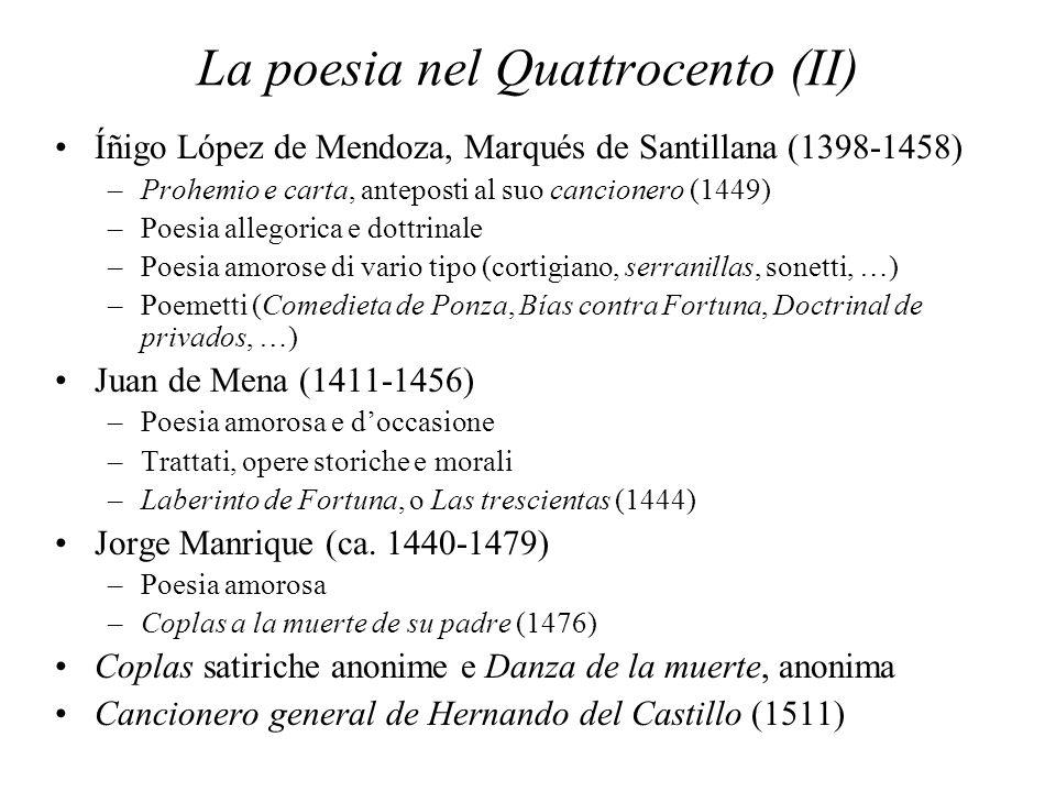 La poesia nel Quattrocento (II)