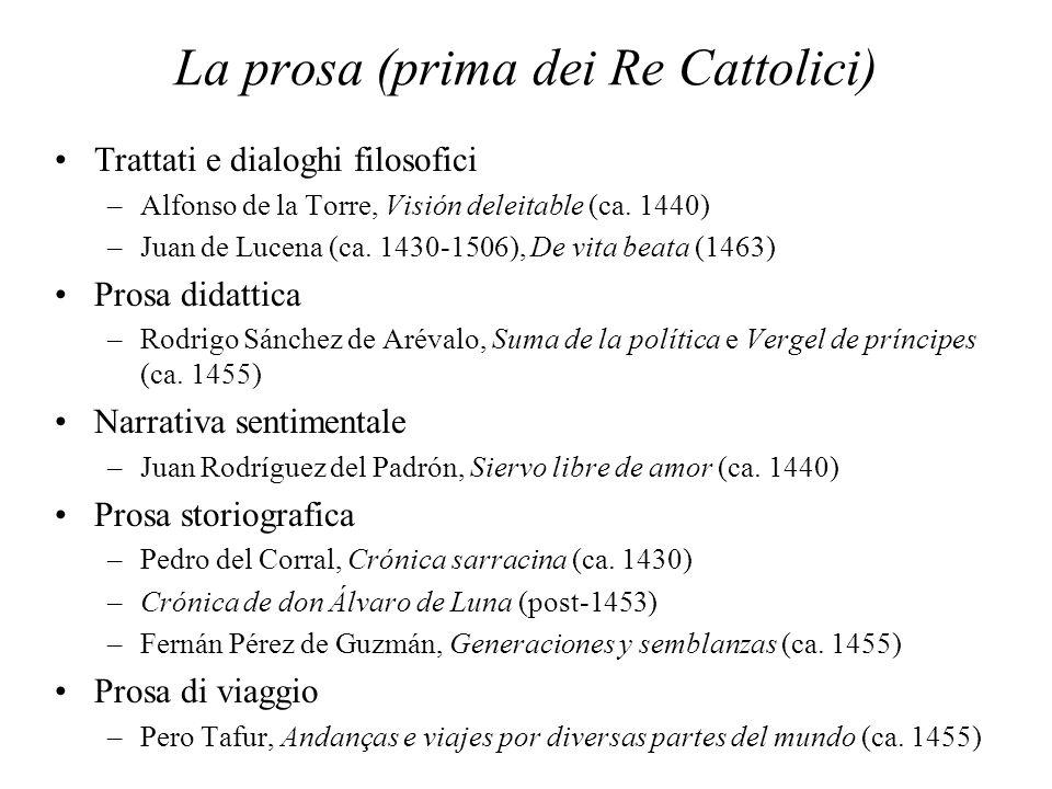 La prosa (prima dei Re Cattolici)