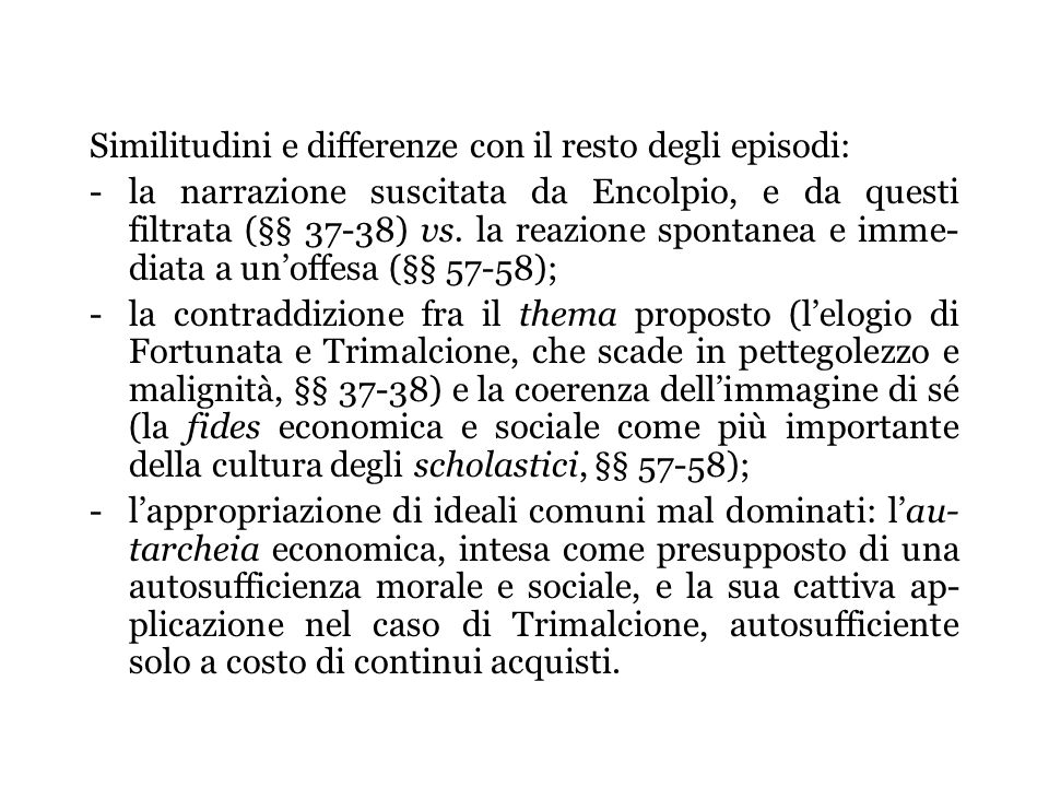 Similitudini e differenze con il resto degli episodi: