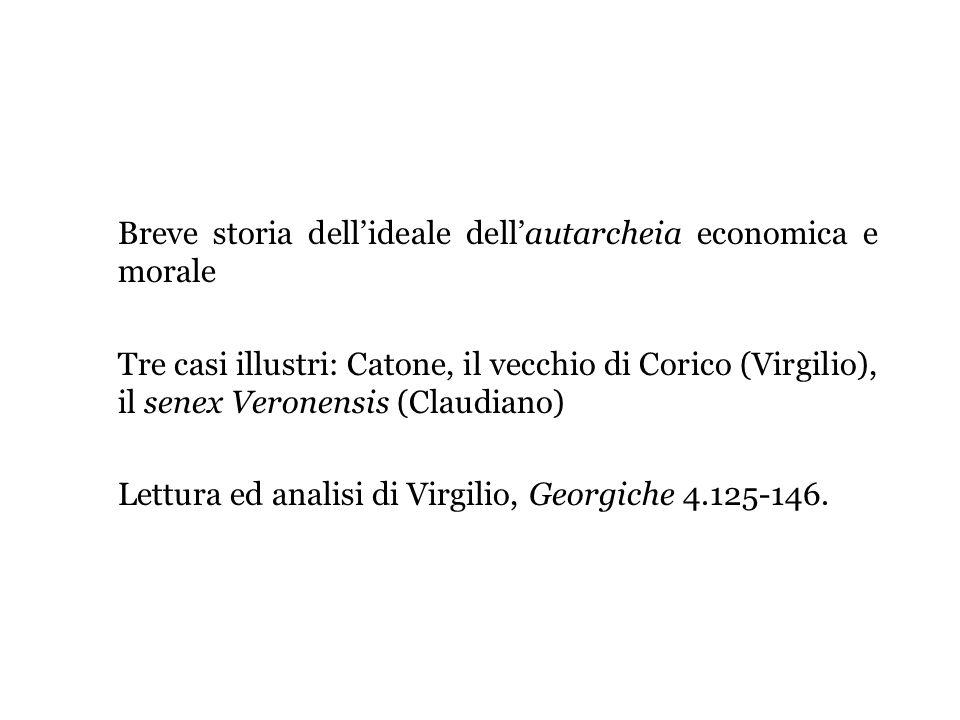 Breve storia dell'ideale dell'autarcheia economica e morale