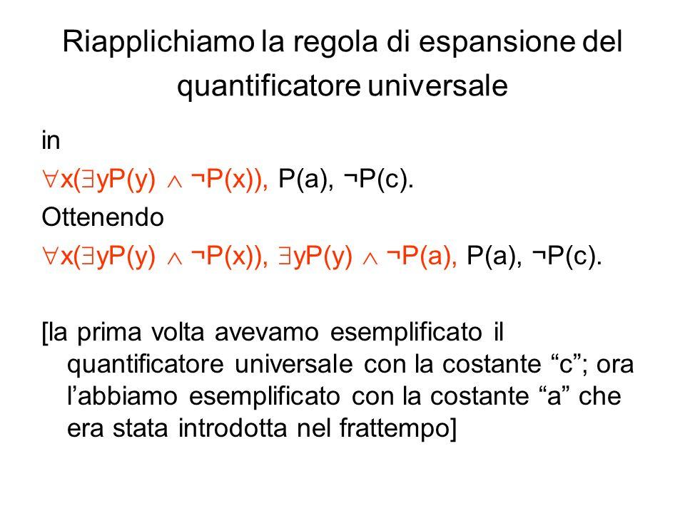 Riapplichiamo la regola di espansione del quantificatore universale