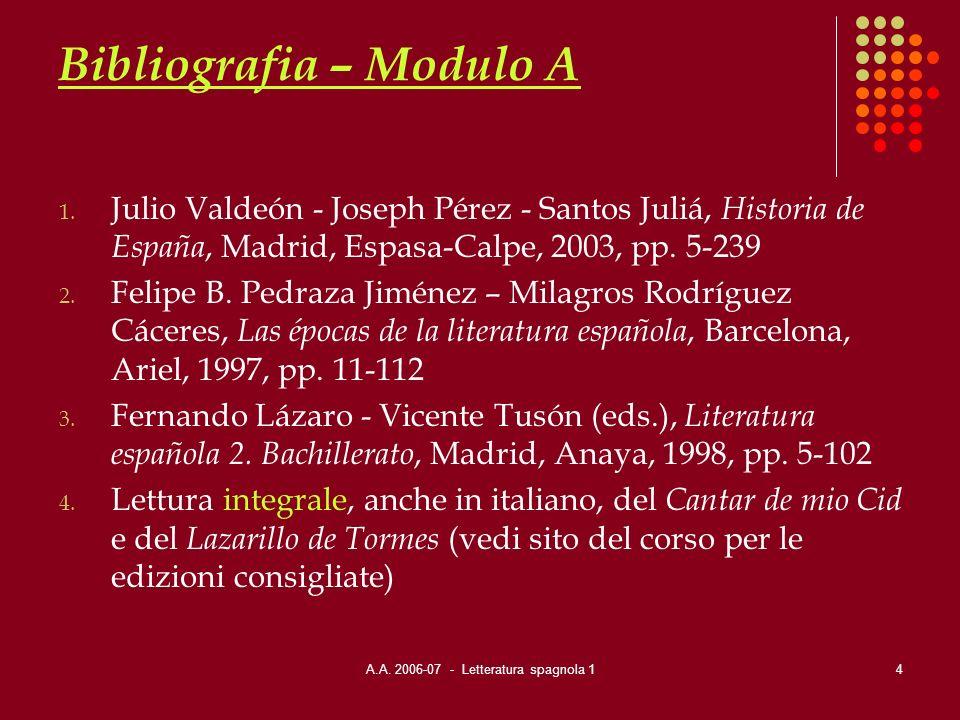 Bibliografia – Modulo A