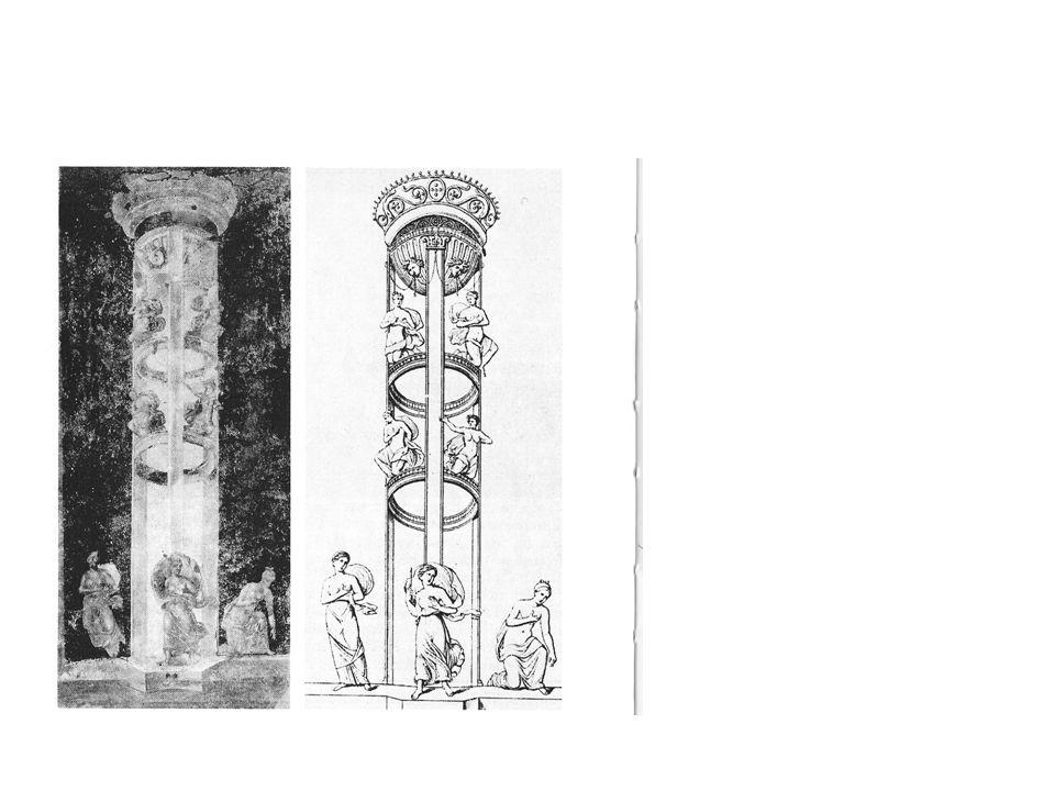 Fotografia e disegno di una pittura parietale pompeiana –