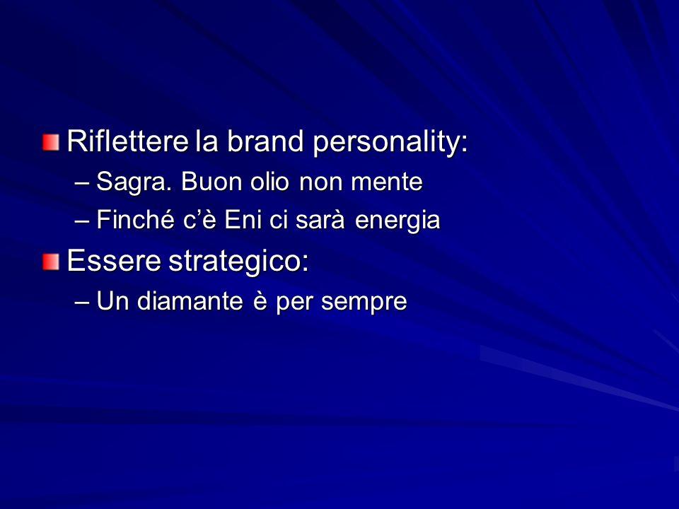 Riflettere la brand personality: