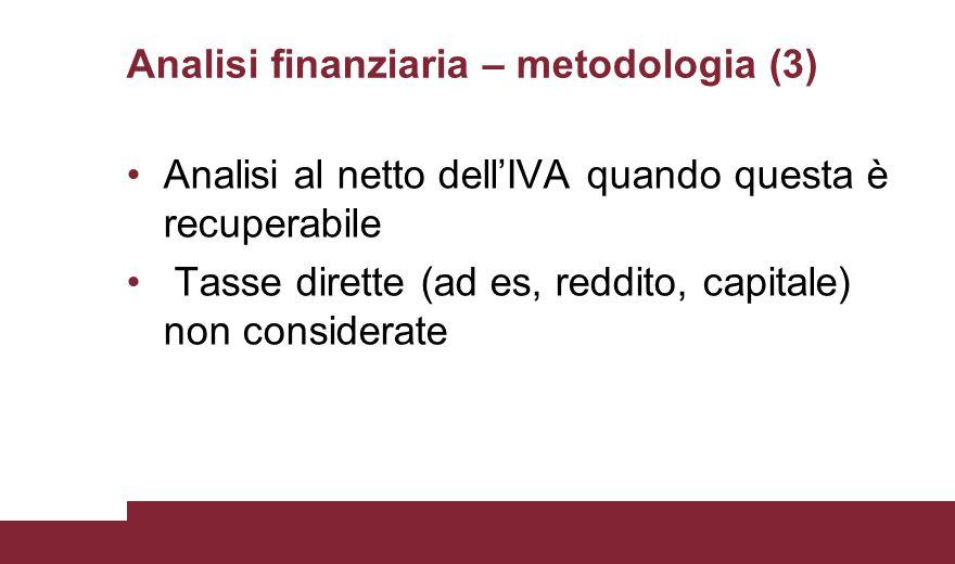Analisi finanziaria – metodologia (3)
